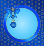 Christmas background with boll. For a design Stock Image