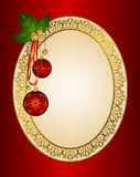 Christmas background with bolls. Royalty Free Stock Photo