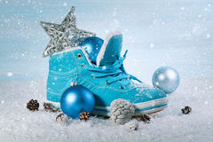 Christmas background with boots Stock Photography