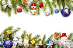 Christmas background border with fir Royalty Free Stock Photos