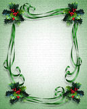 Christmas background Border holly  Royalty Free Stock Photography