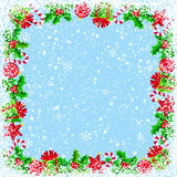 Christmas Background with border Royalty Free Stock Images