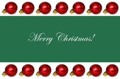 Christmas background with borders Stock Photography