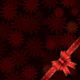 Christmas background with bow Stock Image