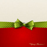 Christmas background with bow Stock Photo