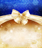 Christmas background with bow Royalty Free Stock Photos