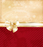 Christmas background with bow. Christmas background with gold bow Stock Photography