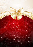 Christmas background with bow. Christmas background with gold bow Royalty Free Stock Photo