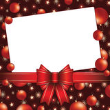 Christmas background with bow and baubles Royalty Free Stock Photos