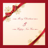 Christmas background with bow Royalty Free Stock Photography