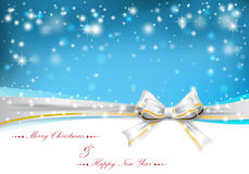 Christmas background with bow. Vector illustration Royalty Free Stock Photo