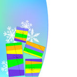 Christmas background with boxes. 2d Royalty Free Stock Images