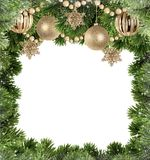 Christmas background with branches of Christmas tree stock photo
