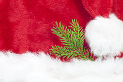 Christmas background with brench green tree Royalty Free Stock Photos