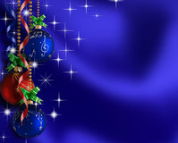Christmas background. Bright Christmas balls and ribbons.It can be used as a background Royalty Free Stock Image