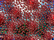 Christmas background with bubbles and lights Royalty Free Stock Photos