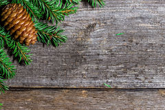 Christmas background with bumps  and fir branches Royalty Free Stock Images