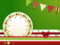 Christmas background with buttons and bunting Royalty Free Stock Image