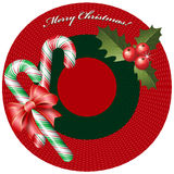 Christmas background with candies Stock Image