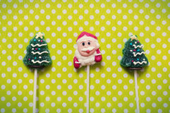 Christmas background with candies Stock Photos