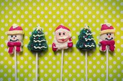Christmas background with candies Stock Images