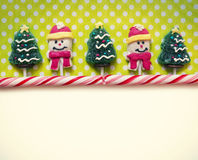Christmas background with candies Royalty Free Stock Photos