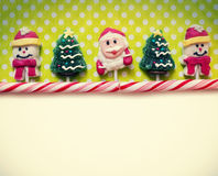 Christmas background with candies Stock Photo