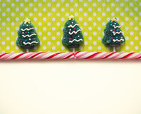 Christmas background with candies Royalty Free Stock Photo