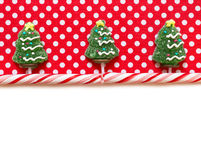 Christmas background with candies Royalty Free Stock Images