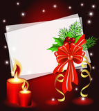 Christmas background with candle Royalty Free Stock Photography
