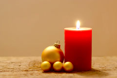 Christmas Background With Candle Stock Photography