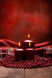 Christmas background - candles Stock Images