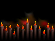 Christmas background with candles eps8 Royalty Free Stock Photos