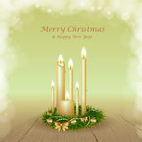 Christmas background with candles Royalty Free Stock Images