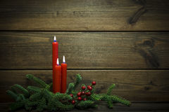 Christmas background with candles Royalty Free Stock Photography