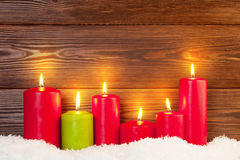 Christmas background with candles Royalty Free Stock Image