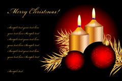 Christmas background with candles. Vector christmas background with candles Stock Photo