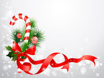 Christmas background with candy cane stock illustration