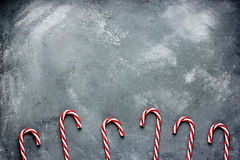 Christmas background with candy cane Royalty Free Stock Photography