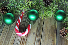 Christmas background with candy Royalty Free Stock Photos
