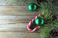 Christmas background with candy Royalty Free Stock Photography