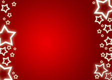Christmas background / card. Red christmas background / card with white stars Stock Images