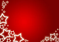 Christmas background / card. Red christmas background / card with white stars Royalty Free Stock Photo