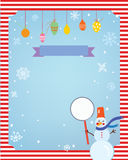 Christmas background for card or invitation. With decorations and frame Royalty Free Stock Image