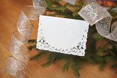 Christmas background card with place for your text Royalty Free Stock Photo
