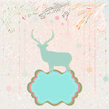 Christmas background card template. EPS 8 Stock Image