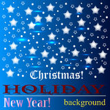 Christmas background. Celebration Emergence the Invitation Sexual Snow White the Star Shine Richly the Coupon stock photography
