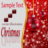 Christmas background. Celebration  Emergence  the Invitation  Sexual  Snow  White  the Star  Shine  Richly  the Coupon vector illustration