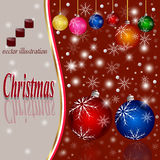 Christmas background. Celebration Emergence the Invitation Sexual Snow White the Star Shine Richly the Coupon royalty free stock image