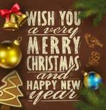Christmas background on chalkboard Royalty Free Stock Photography